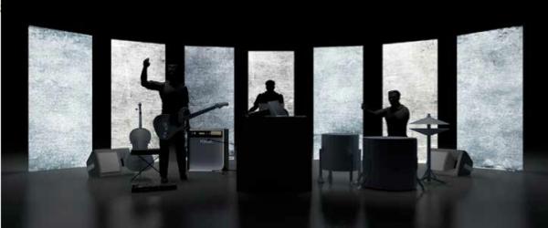 "Legoman: visuals for ""Waste Land"" liveperformance"