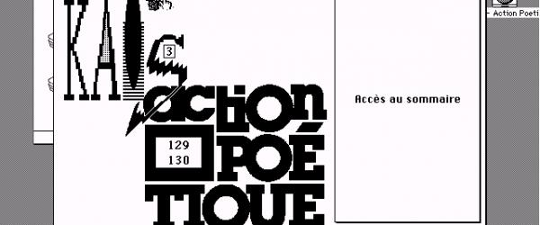 Kaos 3 - Action Poétique (Jean-Pierre Balpe)